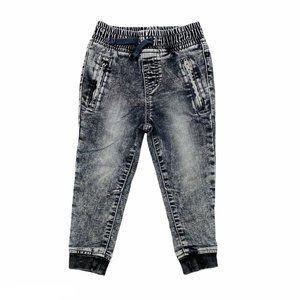 Black Stonewashed Jogger Jeans